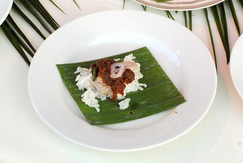 Bryant Ng (The Spice Table) skate, sambal, coconut rice
