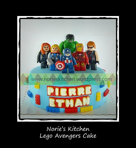 Norie's Kitchen - Lego Avengers Cake by Norie's Kitchen