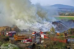 Großbrand Kompostierungsanlage Kelkheim 27.03.12