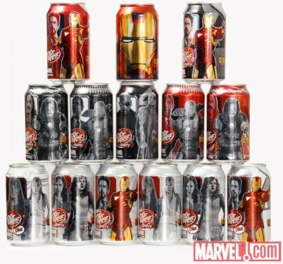 Iron Man 2 Dr Pepper cans
