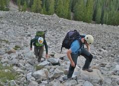 Rick and Tilden Climbing Scree