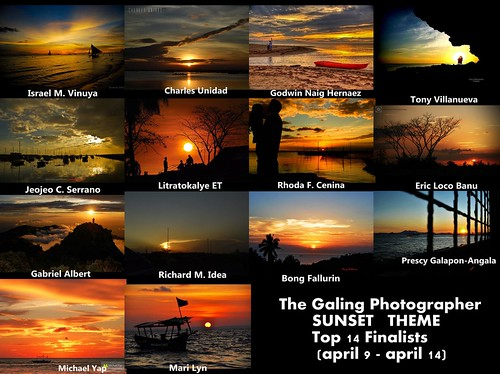 TGP - Top 14 Finalists - Sunset Theme by {israelv}