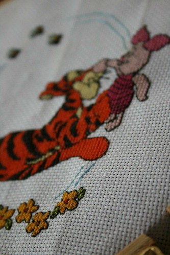 Tigger and Piglet Cross Stitch