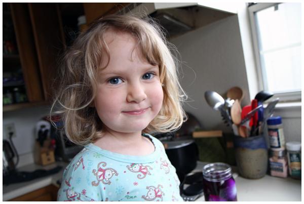 Happy girl -- dying eggs is fun!