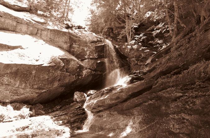 Bridal Veil Falls Sepia