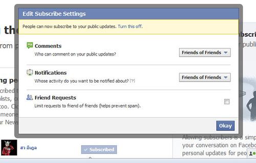 วิธีให้ subscriber ติดตามเราได้ใน Facebook Timeline