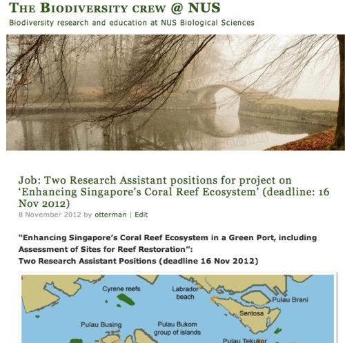 The Biodiversity crew @ NUS