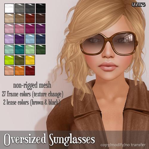 Oversized Sunglasses (mesh)