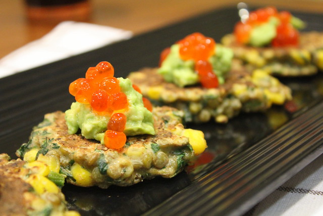 lentils and corn fritters