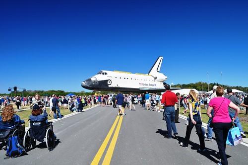 Space Shuttle Atlantis Strikes a Pose, Kennedy Space Center, Nov. 2, 2012
