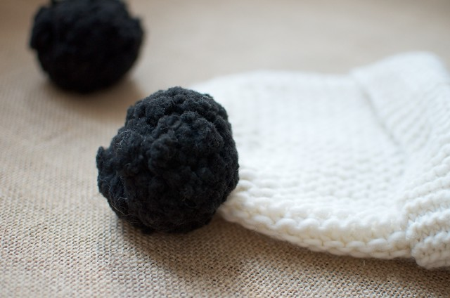 blogger Geneva Vanderzeil makes a DIY double pom pom beanie 9