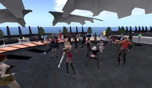 Partying at the Lake Stage, photograph by Daniel Voyager