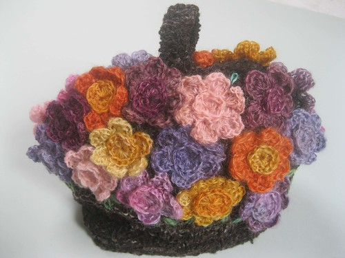 Flower basket tea cosy