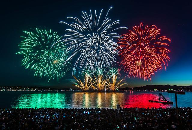 Fireworks Vancouver Festival Lights