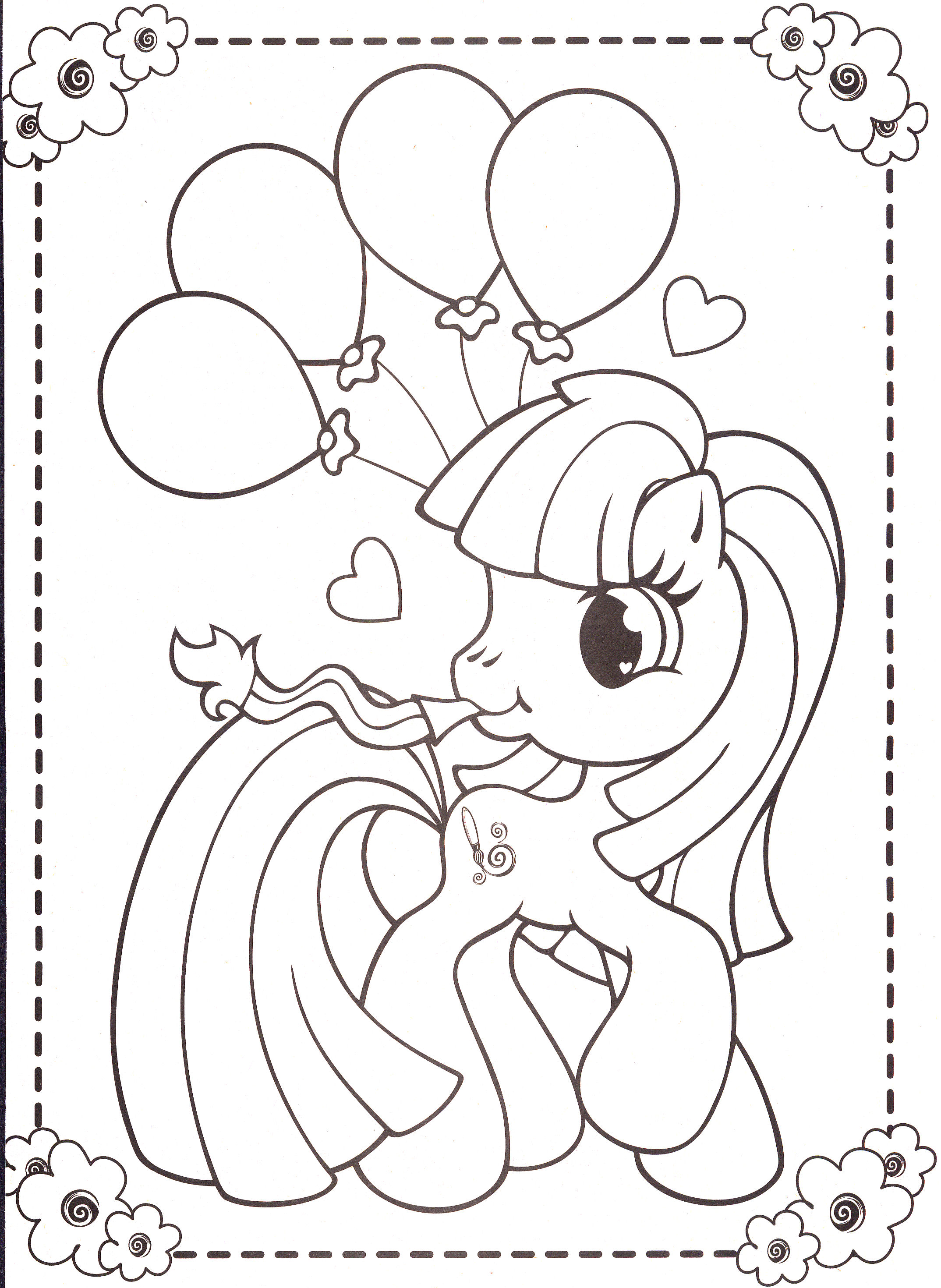 My Little Pony Coloring Pages 45 Flickr