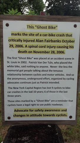 Ghost Bike Sign