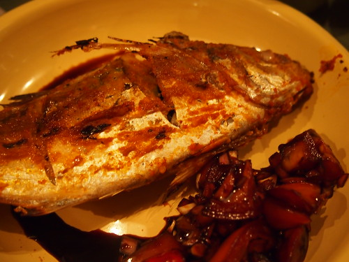 Grilled sambal mackerel