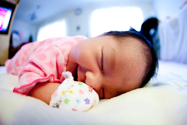 Baby sleeping POV
