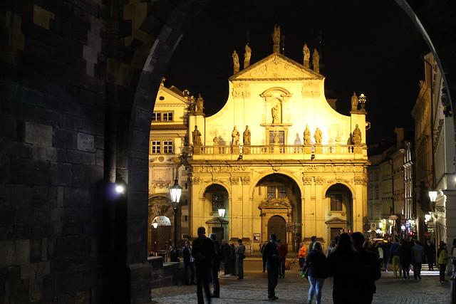 Kostel Nejsvětějšího Salvátora by night