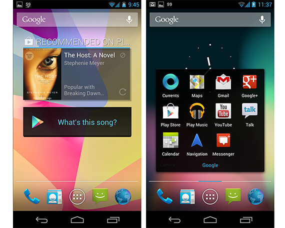 Android 4.1 Jelly Bean - Homescreen