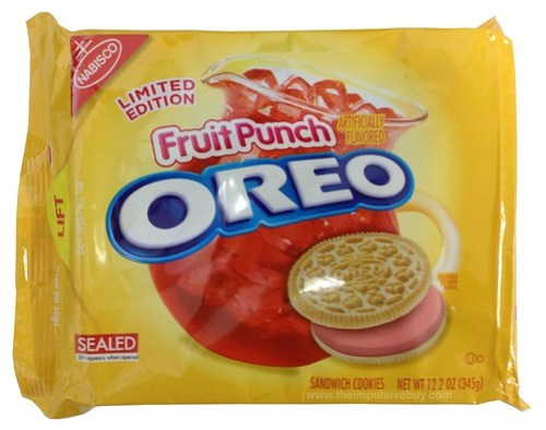 REVIEW: Nabisco Limited Edition Fruit Punch Oreo Cookies ...