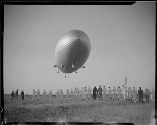 The Hindenburg before she blew up in Lakehurst N.J.