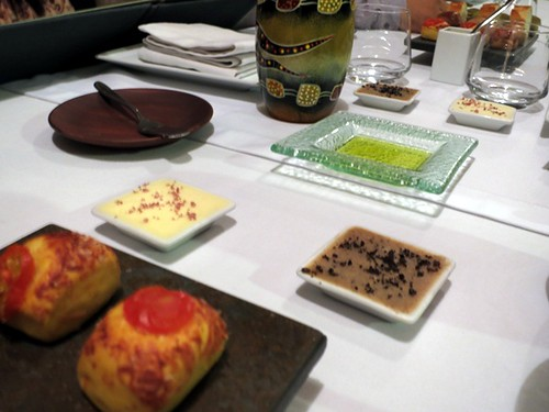 Butter, olive oil