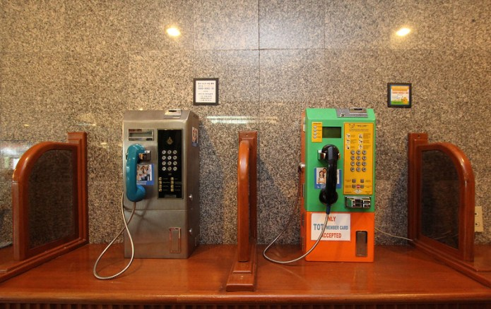 two pay phones