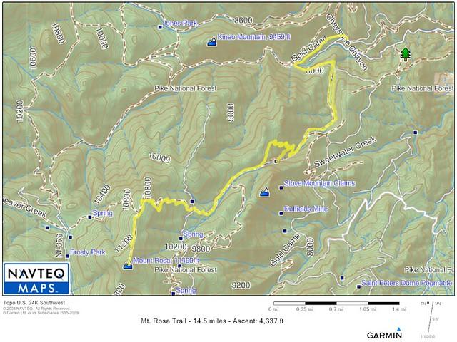 Mt. Rosa Trail Map
