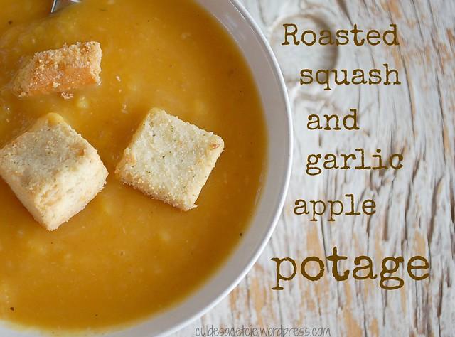 Roasted squash and apple potage