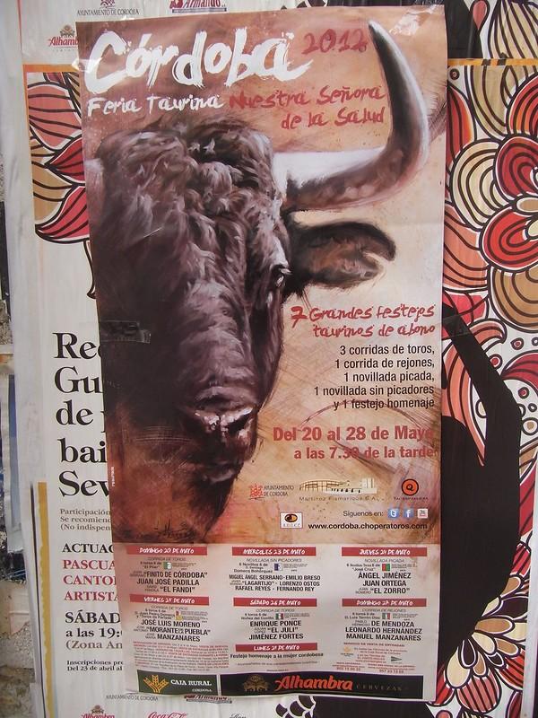 Cartel de Corridas de toros de Feria de Nuestra Señora de la Salud.