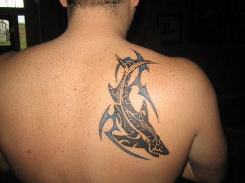 tribal fish tattoo design