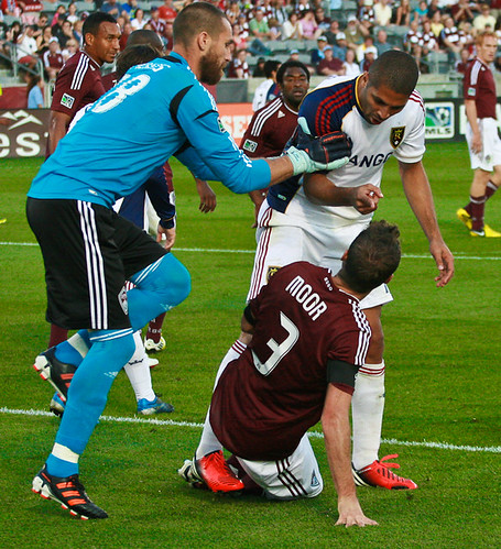 Drew Moor, Matt Pickens, Rapids vs Real Salt Lake by Corbin Elliott Photography
