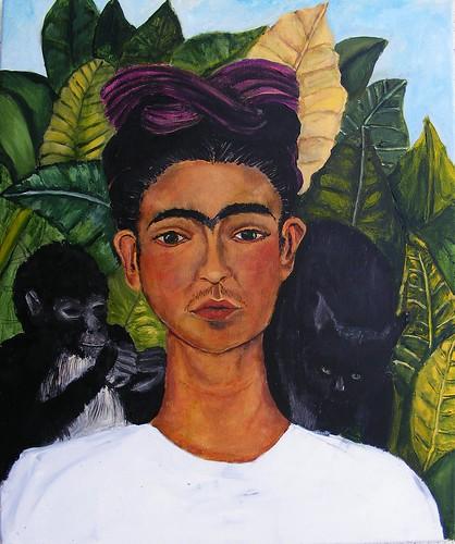 Frida Kahlo Self-Portrait 1940 Study WIP #10