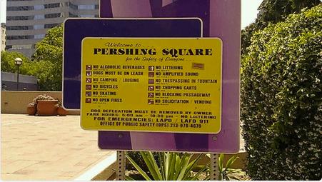 Pershing Square signage