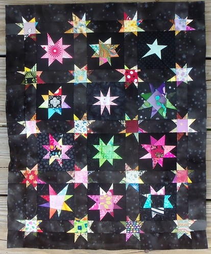 Wonky Stars on black... by ruthiequilts