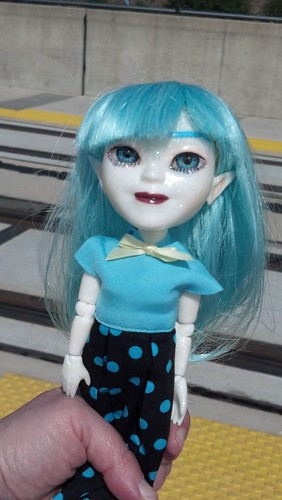 My Makie Doll at the Baltimore Light Rail Stop