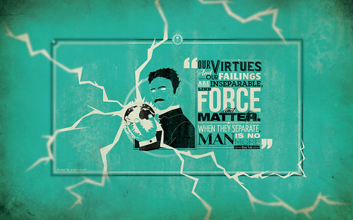 NIKOLA TESLA QUOTE DESKTOP WALLPAPER