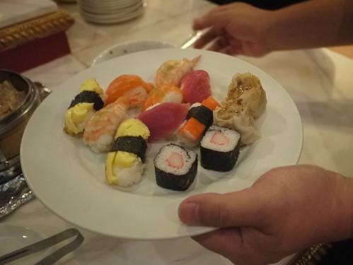 sushi and siomai