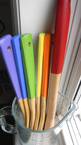 Rainbow Wooden Spoons 21