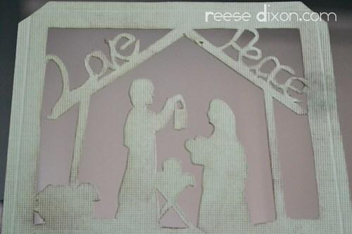 Papercut Nativity Tree Tutorial Step 2