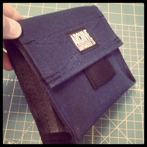 Navy Hip Bag by Archive Victor