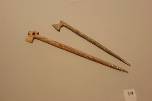 Bone axe-headed pins