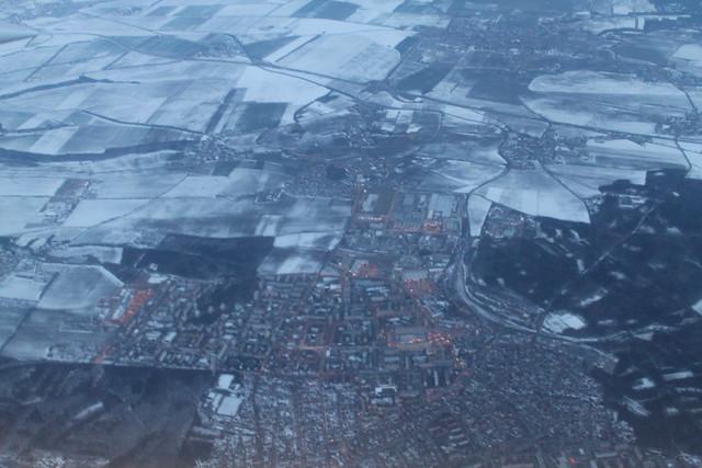 Snowy Prague suburbs