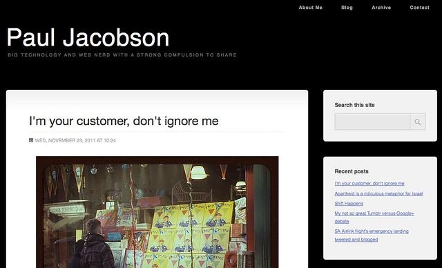 Paul Jacobson's Hub - Firefox 9 screenshot