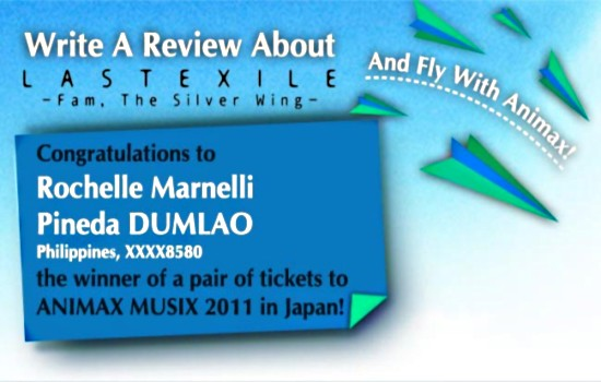 magnetic-rose.net Wins Animax Review Contest