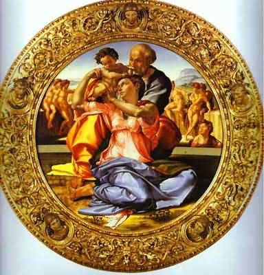 Michelangelo-Doni-Tondo-The-Holy-Family-with-St-John-the-Baptist--