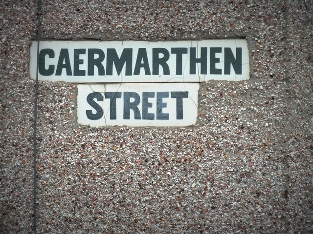 Carmarthen Street sign in Cardiff