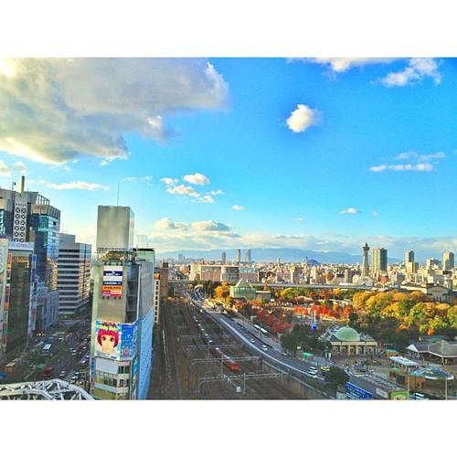 上から天王寺を眺めてみた! #iphonography #instagram #iphone4s