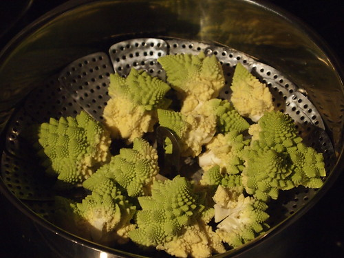 Romanesco broccoli, ready for steaming